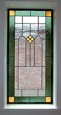 PRAIRIE/CRAFTSMAN STYLE STAINED GLASS WINDOW in Antiques, Architectural & Garden, Stained Glass Windows | eBay.