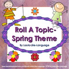 Have fun rolling a topic to work on creative writing, articulation skills, sentence structure or whatever works for you! FREE!