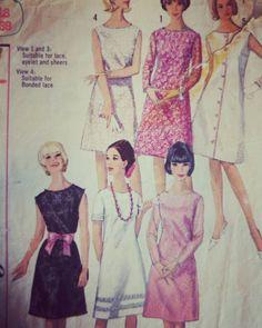 #patternoftheday #vintage #dressmaking #1960s #glam