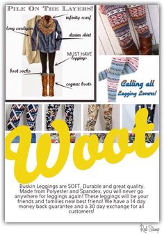AMAZING leggings for amazing deals! Shop or join my team and PAY YOURSELF to shop!!! 25% commissions on all purchases including your own! Follow the link for more info or comment below! www.mybuskins.com/#loveofleggings