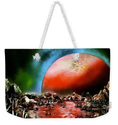 The Other Land Weekender Tote Bag Printed with Fine Art spray painting image The Other Land Nandor Molnar (When you visit the Shop, change the size, background color and image size as you wish)