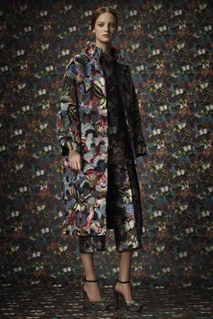 Butterfly coat. Inspired by eccentrics. Valentino | Pre-Fall 2014 Collection