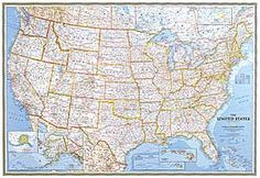 United States Classic Wall Map Mural National Geographic Store
