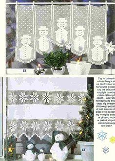 "Photo from album ""Dekoratives Hakeln Sonderheft - DE on Yandex. Christmas And New Year, Christmas Diy, Christmas Decorations, Table Decorations, Holiday Decor, Crochet Curtains, Crochet Doilies, Filet Crochet, Crochet Home Decor"