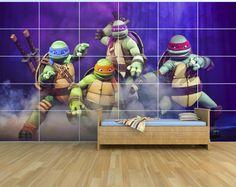 New Teenage Mutant Ninja Turtles Movie - Giant Wall Art Set - 2.5m x 1.5m