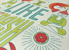 Tastes of Thailand: Limited Edition Posters by Bittersuite, via Behance. Poster Series, Poster On, Thailand, Behance, Kids Rugs, Creative, Illustration, Asia, Design