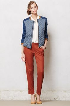 Lou Tapered Trousers - Anthropologie.com