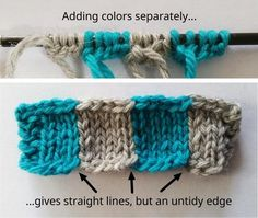 Colors added separately with Twisted German cast-on - A new cast-on for intarsia.  Very good instructions and illustrations.