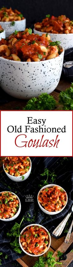 Easy Old Fashioned Goulash- Hearty ground beef and pasta are the main ingredients in this Easy Old Fashioned Goulash; loaded with peppers and tomatoes, this is a complete and nutritious meal! Easy Dinner Recipes, Pasta Recipes, Beef Recipes, Easy Meals, Cooking Recipes, Cooking Food, Soup Recipes, Healthy Recipes, Pasta Dishes