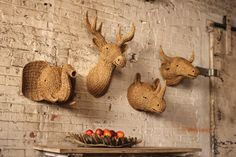 natural rhino fhinocerous wall hanging  $145.00
