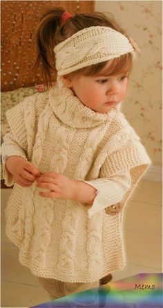 Knitting Pattern for Robyn Poncho for Babies and Children – Matching cable set. … Knitting Pattern for Robyn Poncho for Babies and Children – Matching cable set. Poncho sizes: woman M Poncho Knitting Patterns, Crochet Poncho, Crochet Baby, Crochet Patterns, Crochet Vests, Crochet Edgings, Shawl Patterns, Crochet Motif, Knitting Patterns For Babies