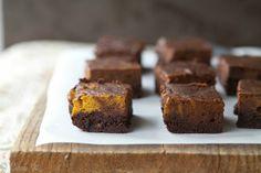 Fudgy Pumpkin Brownies by @CarrieVitt (Grain-Free)