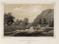 Norge fremstillet i Tegninger - Jacob Mathias Calmeyer - Davigens præstegaard i Nordfjord.  jpg (4896×3640)