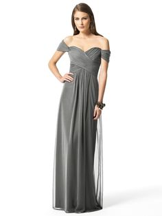 Dessy Collection Style 2844 in charcoal gray