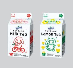 "Tottemo Tea, spring version from ""NESTEA Japan.""  Tottemo or Totemo  means extremely, very, awfully, exceedingly, etc.  ☆とってもミルク・ティー & レモン・ティー 、春バージョン。"