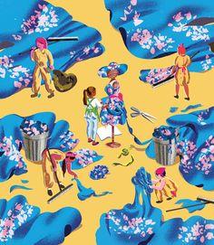 Jenn Liv Illustration - Waste for OCAD: Instudio Surface Design, Shapes, Texture, Wallpaper, Gallery, Illustration, Prints, Artist, Inspiration