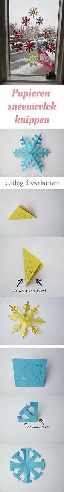 MizFlurry: Uitleg papieren sneeuwvlokken knippen