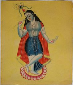 Kalighat Paintings Well Recognized Form Of Indian Modern Art Kalighat Painting Indian Artwork, Indian Folk Art, Indian Artist, Indian Paintings, Krishna Art, Lord Krishna, Shiva, Lord Ganesha Paintings, Academic Art