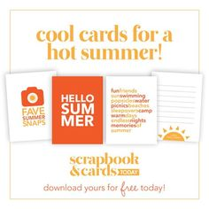 Free Printable - Cool Cards for a Hot Summer!