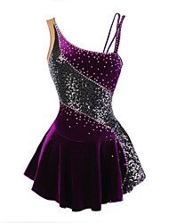 52a54424bd   99.99  Figure Skating Dress Women s Girls  Ice Skating Dress Purple  Velvet Stretchy Competition Skating Wear Breathable Handmade Fashion Floral  ...