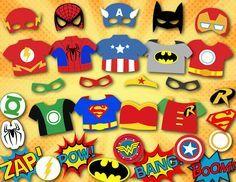 Instant Download Superhero Photo Booth Props por OneStopDigital