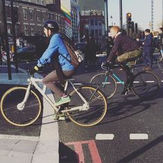 Good morning #Saturday  I love the new #oldstreet bike friendly roads!  making it safer for cyclists #GOSTYLEDOSE Your daily dose of London cycle street style by Jacqui Ma #cyclestyle #cyclechic #bikestyle #cyclestyle #eastlondon #hackney #whyibike #singlespeed #spaceforcycling #instabike #bicycles #fixie #bikeinthecity #bikepretty #mycommute #cyclist #wellplacedbike #streetstyle #baaw #london #biking #foreverbuttphotos #fitspro #outsideisfree