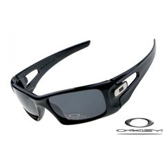 15191240698 Oakley crankcase sunglasses with polished black frame grey iridium lens