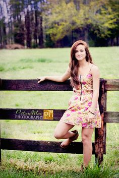 Halley at the Farm Senior Portrait