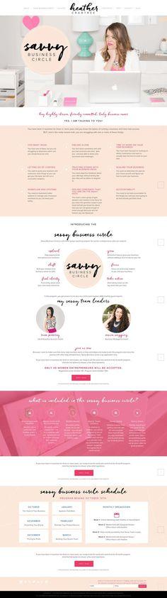 Chic Pink, Blush, Black & White Website Sales Page