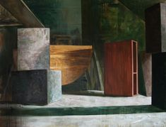 The east layout, Cyprian Nocoń, oil on canvas, 2018 - Before the premiere still life
