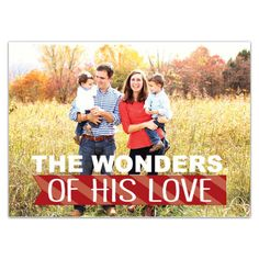 Wonders of His Love Christmas Photo Card Invitations
