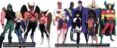 During Superman: The Animated Series in the 90's Bruce Timm wanted to create a Justice League show but he decided to wait, this was his idea/version of Justice League. Lightray, Black Lightning, The Question, Doctor Fate, Mister Miracle, Supergirl, Nightshade and Vixen. Along with Green Arrow, Black Canary, Hawkman and Hawkgirl by Bruce Timm