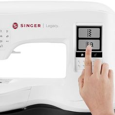 Singer Legacy Sewing and Embroidery Machine Touching Display Embroidery Machine Reviews, Singer, Display, Sewing, Floor Space, Dressmaking, Billboard, Couture, Singers