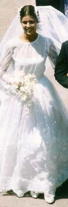 Princess Caroline of Monaco at her wedding to first husband Philippe Junot