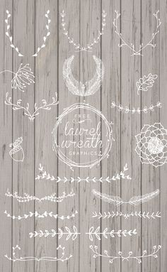 Laurel Wreath Graphics. (beautiful hand-drawn elements)