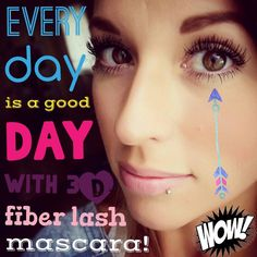 Younique 3D Fiber Mascara, all natural and gluten free! It will give you a,axing lashes like these!!  www.fancymascaragirl.com