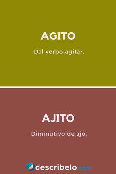 Spanish Grammar, Spelling And Grammar, Spanish Words, Spanish Language Learning, Teaching Spanish, Learning To Write, Vocabulary, Knowledge, Writing