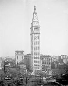 #Metropolitan Life Insurance Building #madison square park #1909