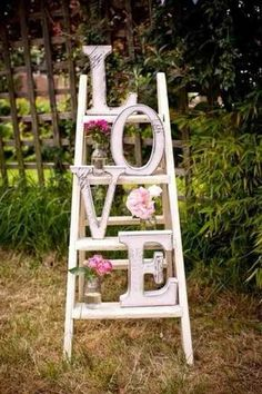 Hochzeiten dekoideen leiter liebe
