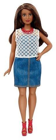 Barbie Fashionistas Doll 32 Dolled Up Denim - Curvy
