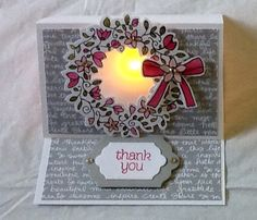 Stampin' Up! ---- Circle Of Spring stamp set. Votive candle inside.