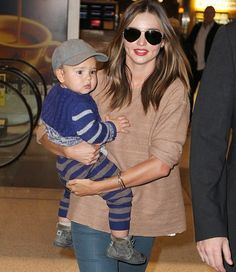 past Bellyitch Bumpwatch:    Where are they now?    Miranda Kerr arriving at Sydney Airport today with son Flynn on June 1.