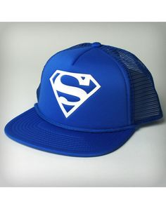 Superman Blue Trucker Hat