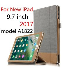 12.43$  Watch now - http://ali3mv.shopchina.info/1/go.php?t=32812512847 - SD Luxury Ultra-thin Stand Hit color PU Leather Cover Case for Apple New ipad 9.7 2017 9.7 inch Tablet Model A1822 A1823 Cover  #magazineonlinewebsite