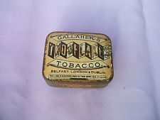 Antique Gallaher's Belfast Two Flakes 1 oz Tobacco Tin c 1910