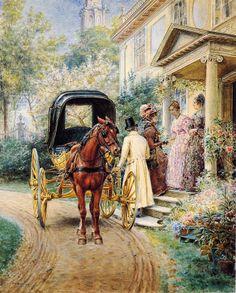 Edward Lamson Henry (1841 - 1919) American, Leaving Home