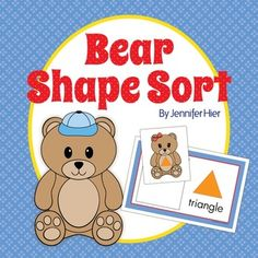 Teddy bear shape sorting activity.....perfect for preschool or pre-k math centers, or busy bags