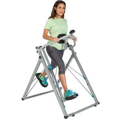 Use the Progear Freedom Air Walker Elliptical LS1 for your cardiovascular workout while eliminating any impact on joints. With different tension levels, you can get the workout that is just right for you. The Air Walker LS1 folds for storage, too.