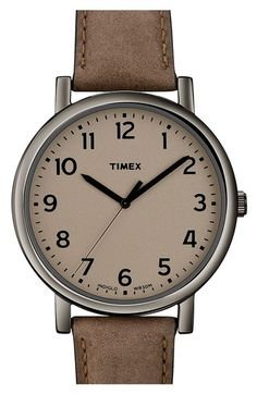 Free shipping and returns on Timex®  Easy Reader  Leather Strap Watch at  Nordstrom a6ba7eb2c350