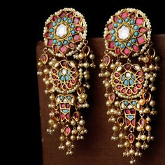 Handcrafted Luxury From Jaipur A luxury brand that meticulous artistry through timeless jewels and accessories. Indian Jewelry Earrings, Fancy Jewellery, Jewelry Design Earrings, Indian Wedding Jewelry, India Jewelry, Ear Jewelry, Stylish Jewelry, Bridal Jewelry, Fashion Jewelry